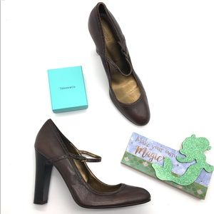 J. Crew heels size 9.5 brown made in Italy